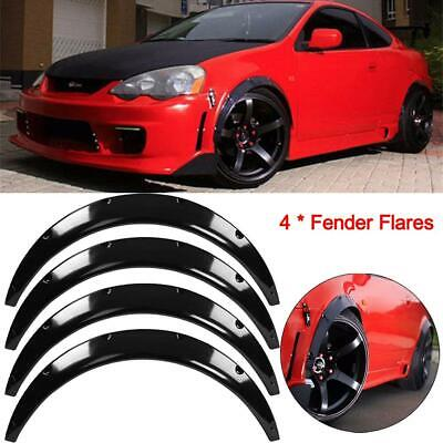 UK Universal 4PCS Flexible Car Fender Wheel Arches Flare Extension Flares Wide