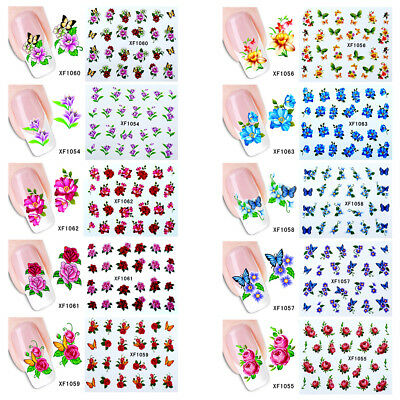 Self-Adhesive Flower Nail Art Beauty Sticker DIY Decal Manicure Tool Flowery