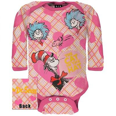 Dr Seuss Baby Clothes - Dr. Seuss - Baby Girls Cats Hearts Friends Long Sleeve Infant Newborn One Piece