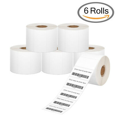 6 Rolls Perforated 2.25x1.25 Thermal Shipping Labels 1000roll For Zebra Lp2844