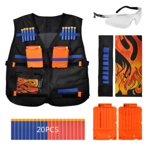 Tactical Vest Suit Set for Nerf Elite Dart Foam Eva Refill B