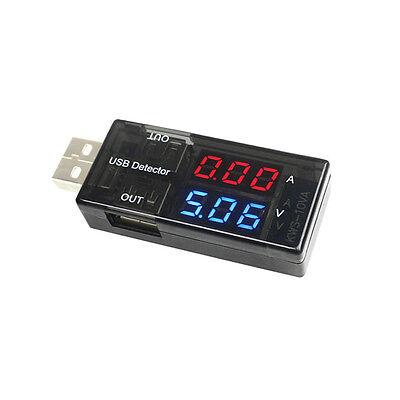 Black Usb Charger Detector Current Voltage Power Tester Digital Volt Amp Meter