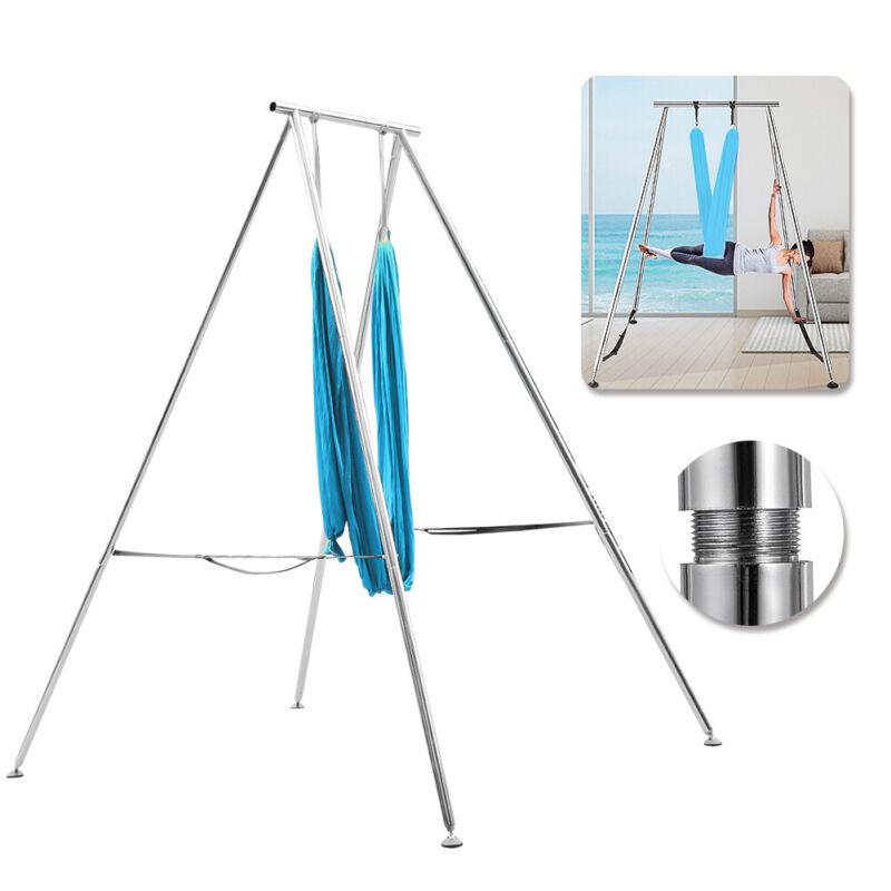 Aerial Trapeze Stand Portable Frame Yoga Swing Bar Bracket w20Ft Aerial Hammock