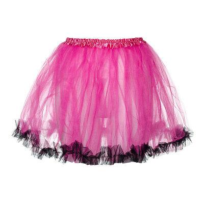 ck 80s Neon Fancy Dress Hen Party Trimmed Adults Tutu Skirt (Neon Blue Tutu)