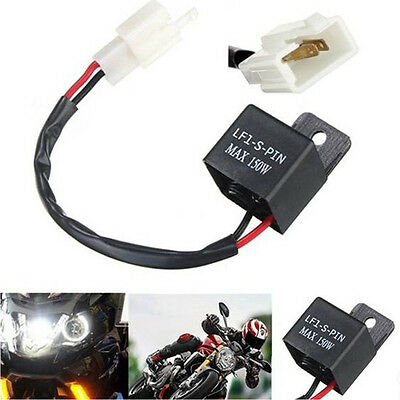 2-Pin Electronic LED Flasher Relay FIX Motorcycle Turn Signal Bulbs Hyper Flash