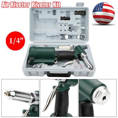 14 Industrial Air Hydraulic Rivet Gun Pneumatic Riveter Tool Kit Set 2.4-4.8mm