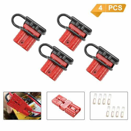 4PCS Battery Quick Connector Kit 50A 6AWG Plug Connect Disconnect Winch Trailer