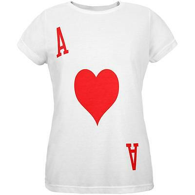 Halloween Ace of Hearts Card Soldier Costume All Over Womens T Shirt - Ace Of Hearts Costume