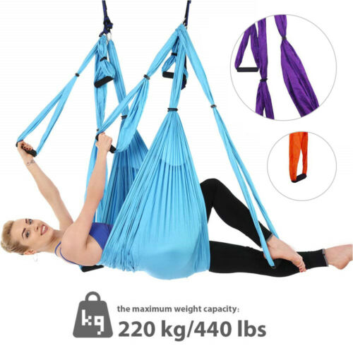 Fitness Yoga Swing Schaukel Übungen Hänge-Matte Tuch Flexibilität für Aerial