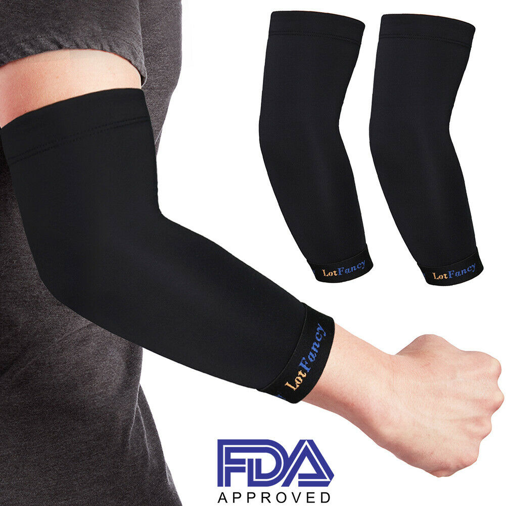 2x Copper Elbow Sleeve Brace Compression Support Arthritis T