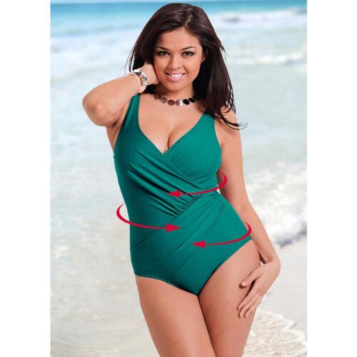 13fbfebec814 Plus Size Women Vintage Monokini One Piece Retro Swimwear Bathing Suit  Beach 5XL