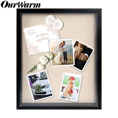 3D Shadow Box Frame Display Case with Linen Background Wedding Keepsake Home Art
