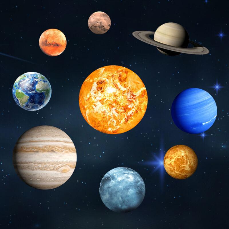 Solar System Planet Night Light Luminous Wall Sticker Glow