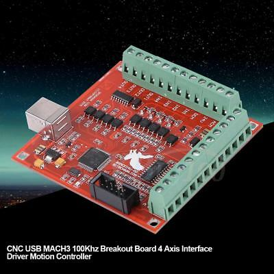 Cnc Usb Mach3 100khz Breakout Board 4 Axis Interface Driver Motion Controller Im