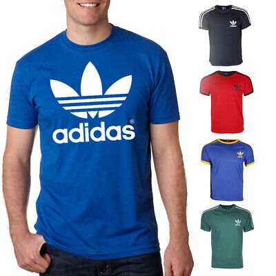 Adidas California Originals Mens T Shirt Retro Trefoil Short Sleeve Crew Neck