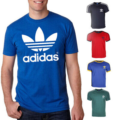 Adidas California Originals Mens T Shirt Retro Trefoil Short Sleeve Crew Neck