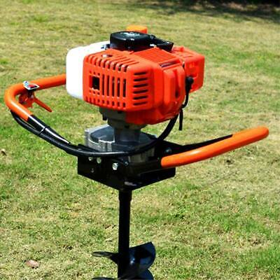 52cc 2-stroke Gasoline Gas One Man Post Hole Digger Earth Auger Machine Usa