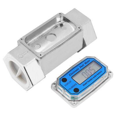 Digital Turbine Flowmeter Diesel Gasoline Fuel Flow Meter 1 12 Npt 15-120lmin