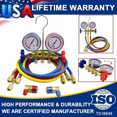 Refrigeration Air Conditioning Ac Diagnostic Manifold Gauges R134a R502a R22 R12
