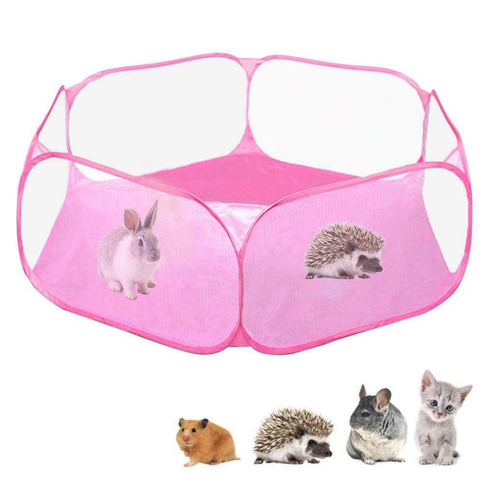 Small Animals Folding Pet Playpen Guinea Pig Rabbit Cage Fence ...