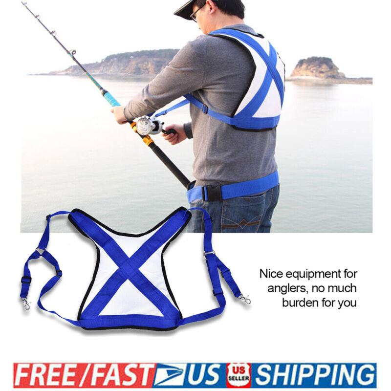 Adjustable Fishing Vest Belt For Fishing Rod Fighting Shoulder Back Harness Belt