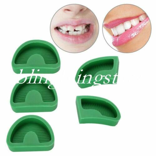 10 Pcs Dental Silicone Plaster Former Base Molds Model Trays S/M/L/Left/Right