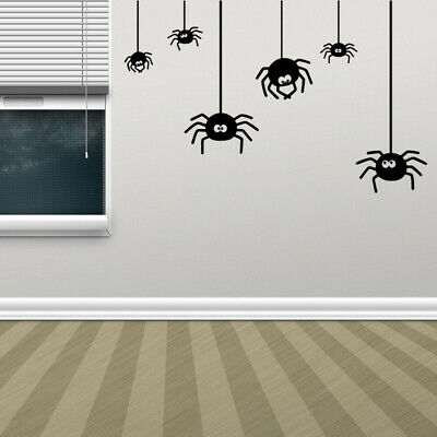Halloween Living Room Decor (Halloween Spiders Wall Sticker Living Room Window  Home Decal Decoration)