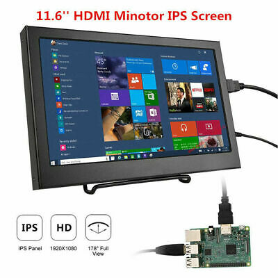 New 11.6 Ips Lcd Display 1920x1080 1080p Hdmi Screen Monitor For Raspberry Pi