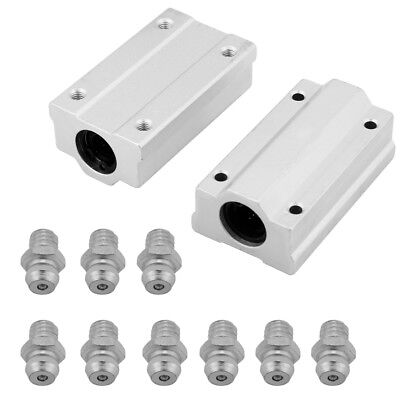 2pcs 8121620mm Aluminum Linear Motion Ball Bearing Slide Block Cnc Parts Dh