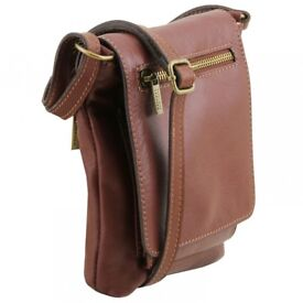 Tuscany Leather Sasha Unisex Soft Leather Brown Bag