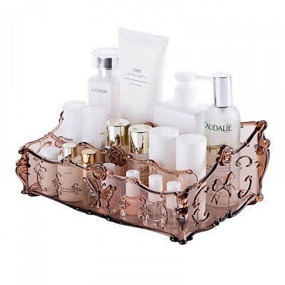 Deluxe Cosmetic Organizer Clear Acrylic Makeup Holder Case Box Jewelry Storage Acrylic Deluxe Box