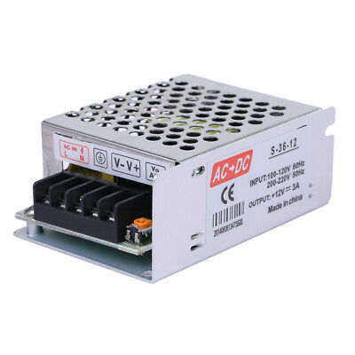 Ac 110v-220v To Dc 12v 3a 36w Volt Transformer Switch Power Supply Converter Usa