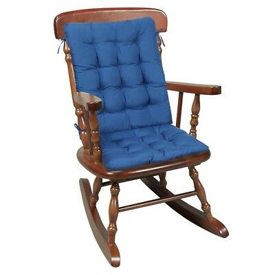 Two Piece Rocking Chair Cushions - Seat & Back Pads - Blue