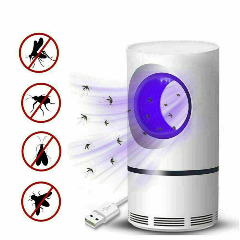 Electric Fly Bug Mosquito Insect Killer LED Light Trap Control Lamp Small Pest
