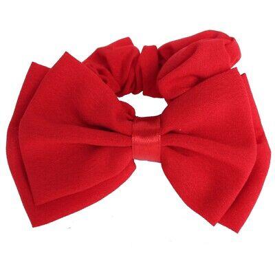 Rote Schleife Haargummi Zopfgummi Haarband Pferdesschwanz Zopf-Halter Bow