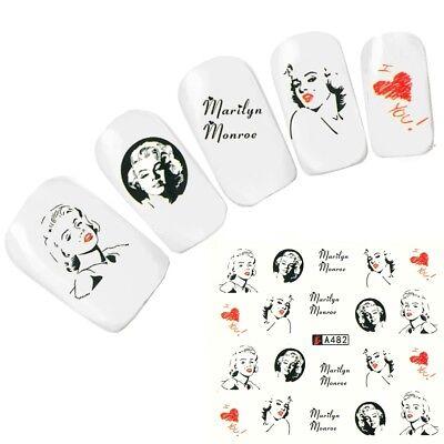 Tattoo Nail Art Marilyn Monroe Weltstars der 1950 er Nagel Sticker