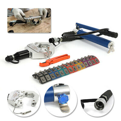 Fs-7842b Ac Hydraulic Hose Crimper Hand Tool Kit Crimping Set Hose Fittings