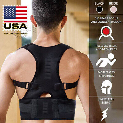 Men Women Back Posture Correction Shoulder Corrector Support Brace Belt Therapy ()