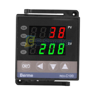 Digital 100-240v Pid Temperature Controller Thermostat Rex-c100 Thermocouple