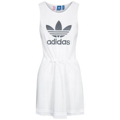 adidas Originals Mädchen Freizeit Kleid Dress Weiß Sommer Frühling AJ0049 neu