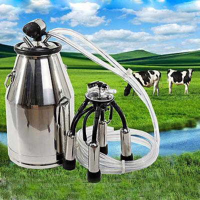 Stainless Milking Machine Portable Dairy Cow MilkerBucket Tank Barrel Cattle