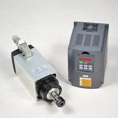 3kw Er20 Four Bearing Air-cooled Spindle Motor Matching 3kw Inverter Drive Vfd