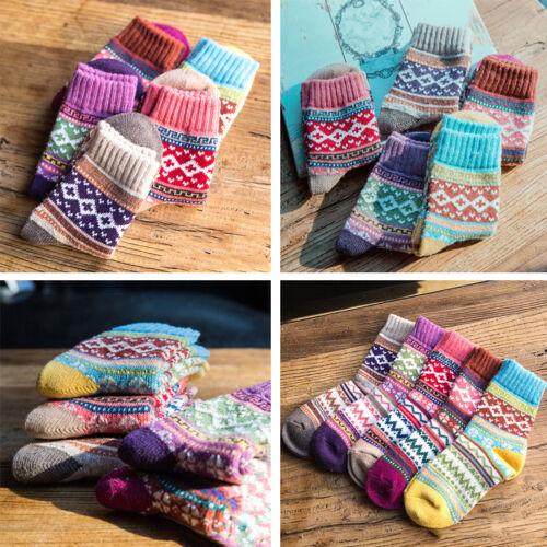 6 Pairs Women Ladies Wool Socks High Quality Cosy Long Winter Soft Socks  ZESDF