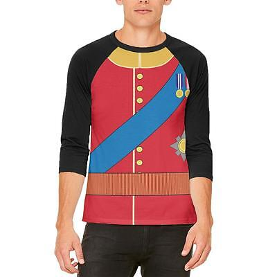 Halloween Prince Charming William Costume Mens Raglan T Shirt - Prince William Halloween Costume