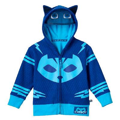 Toddler Boy's Animated Show PJ Masks Catboy Blue Zip-Up Costume Hoodie