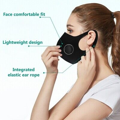 Reusable Outdoor Air Purifying Face Filter Face Cover Mouth Mask + Respirator Mg Accessories
