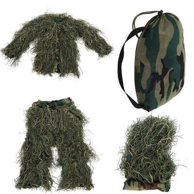 Children Kids Leaf Ghillie Suit Woodland Camo Camouflage Clothing 3D Jungle Game](Kids Ghillie Suit)