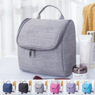 US LARGE COSMETIC MAKE UP TRAVEL TOILETRY BAG CASE WASH HOLDER ORGANIZER HANDBAG