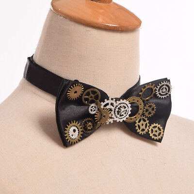 Victorian Steampunk Gear Clock Pointer Bowtie Fancy Dress Party Bow Tie Neckwear - Victorian Bow Tie