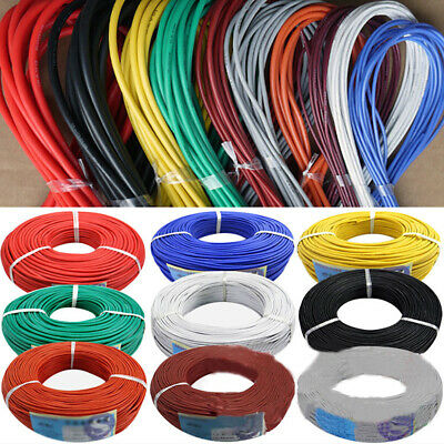 5mbox 20-30awg Silicone Rubber Wire Electrical Wire Tinned Copper Line